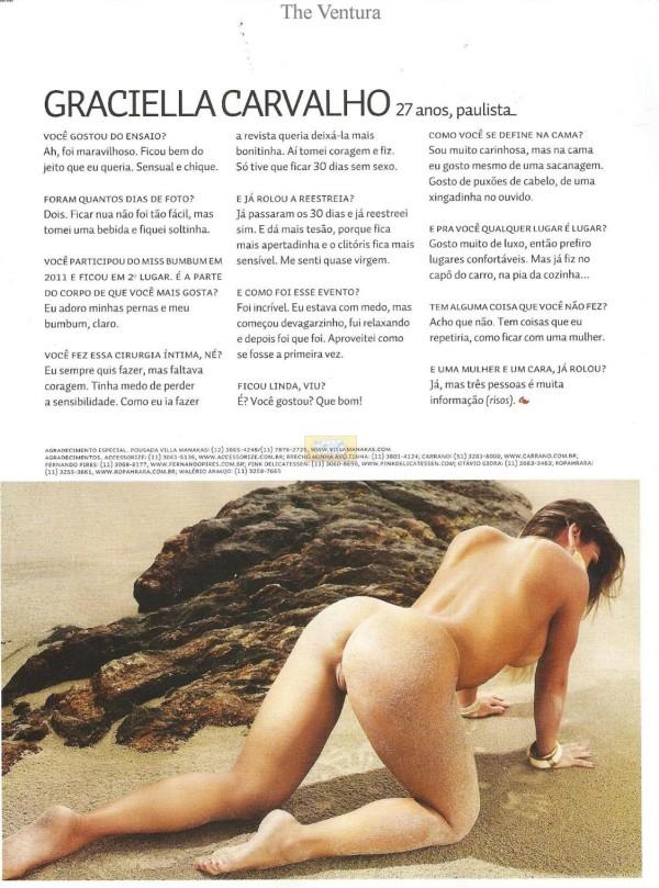 Graciella Carvalho nua pelada na Sexy de Dezembro 13