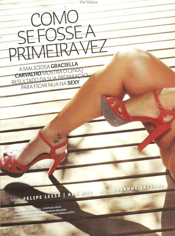Graciella Carvalho nua pelada na Sexy de Dezembro 14