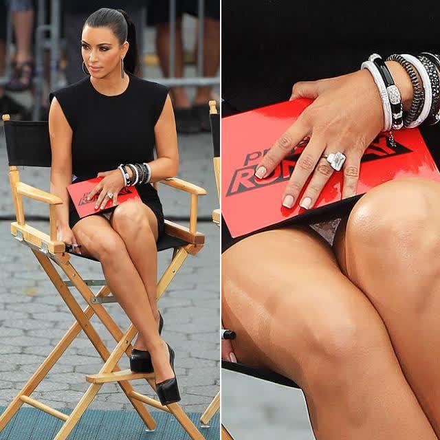 10 Kim Kardashian perna aberta