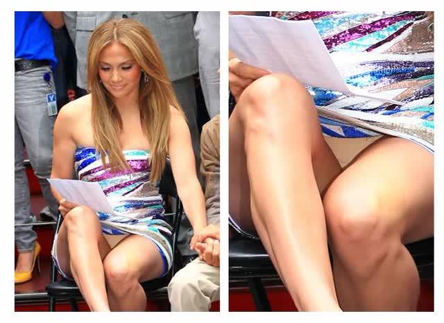 2 Jennifer Lopez perna aberta