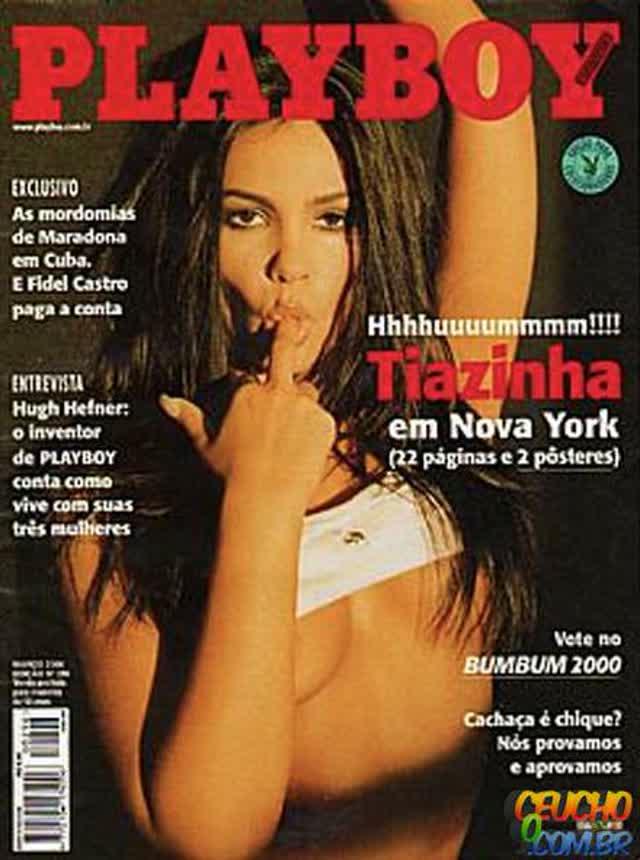 Playboys mais vendidas de todos os tempos no Brasil Tiazinha sem máscara