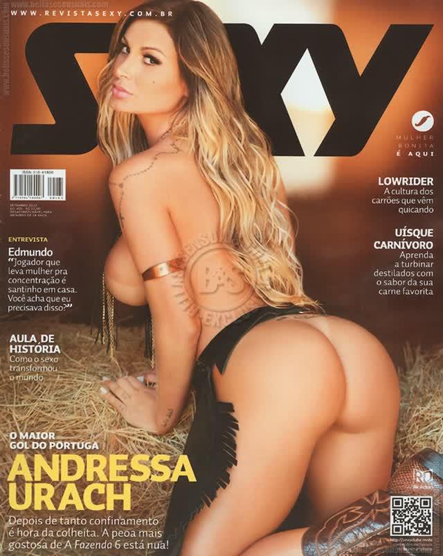 Fotos de Andressa Urach pelada nua na Sexy 10