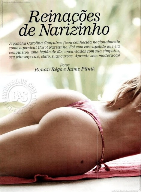 Panicat Carol Narizinho nua pelada na playboy 12
