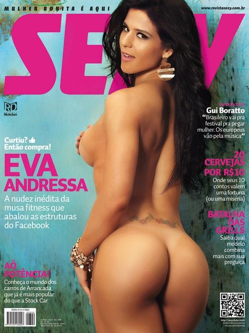 Eva Andressa nua pelada na Revista Sexy 1