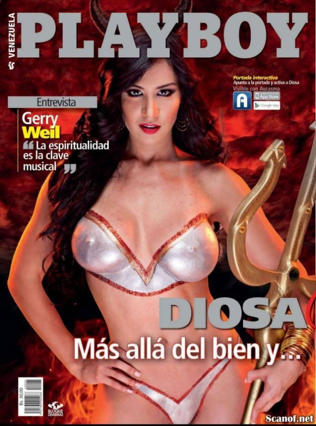 FOTOS E VIDEOS - Com vocês a gostosona Diosa Canales pelada playboy 31