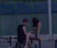 Casal flagrado fazendo em publico