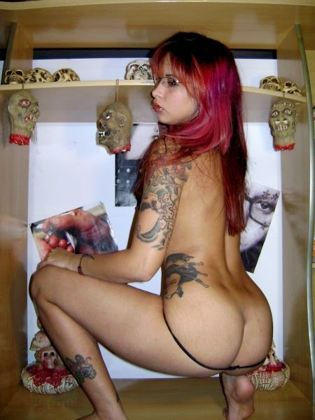 Angela, rockeira muito gostosona cavala rabuda caiu na net 14