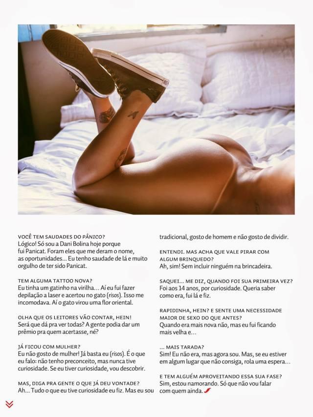 Dani Bolina nua pelada na Sexy de Abril 2014 16
