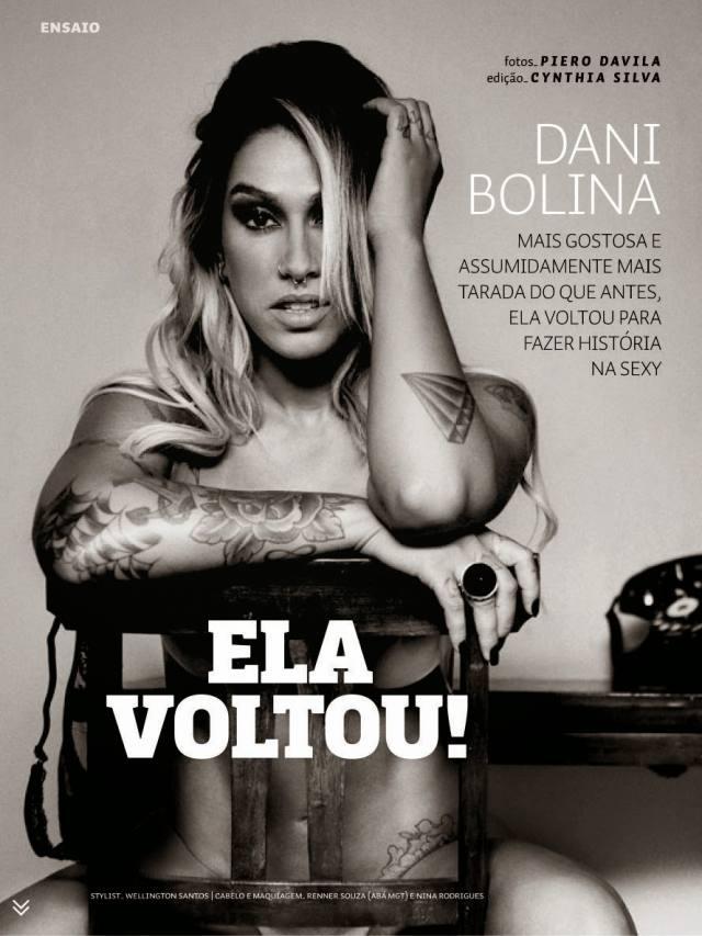 Dani Bolina nua pelada na Sexy de Abril 2014 2