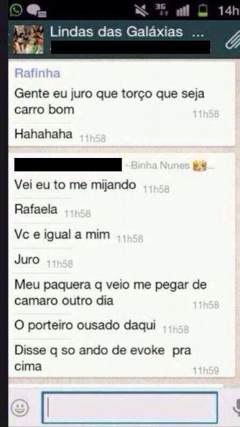 Patricinhas de Salvador falam e mostram demais em WhatsApp 1