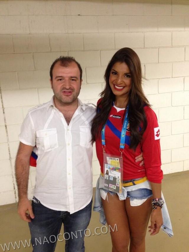 Jornalista musa Costa Rica Copa Jale Berahimi fotos 20