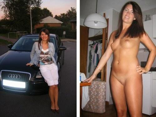Mulheres com roupa e sem roupa