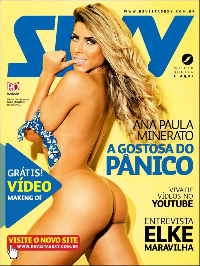Ana Paula Minerato nua pelada na Revista Sexy Agosto (1)