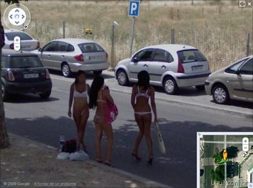 Fotos de gostosas no Google street view 1