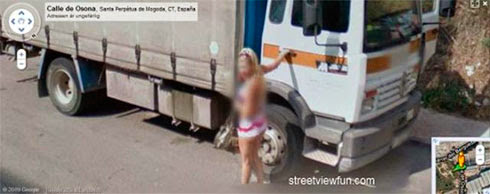 Fotos de gostosas no Google street view 12