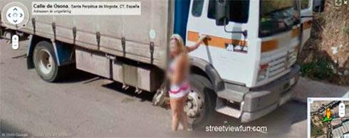 Fotos de gostosas no Google street view 12