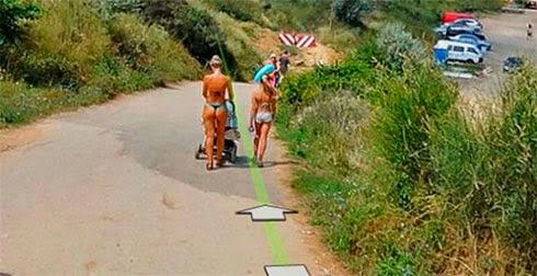 Fotos de gostosas no Google street view 20
