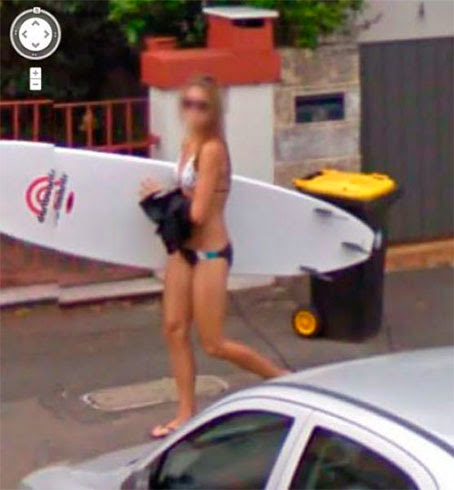 Fotos de gostosas no Google street view 21
