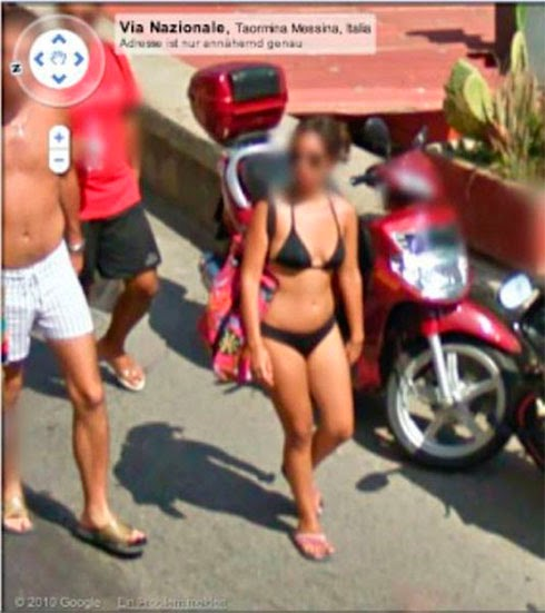 Fotos de gostosas no Google street view 30