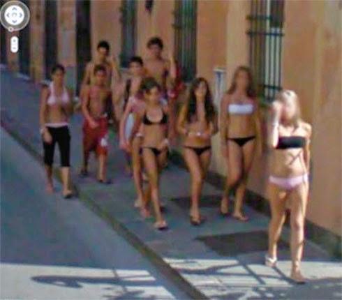 Fotos de gostosas no Google street view 31