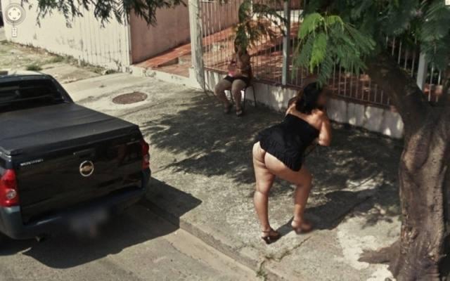 Fotos de gostosas no Google street view 6