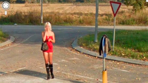 Fotos de gostosas no Google street view 8