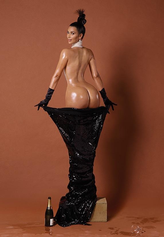 Kim Kardashian pelada na polemica revista americana Paper 3