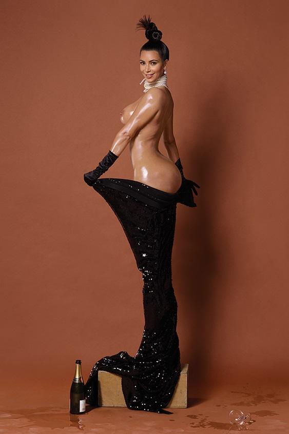 Kim Kardashian pelada na polemica revista americana Paper 4