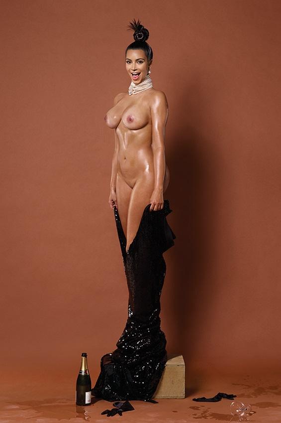 Kim Kardashian pelada na polemica revista americana Paper 5