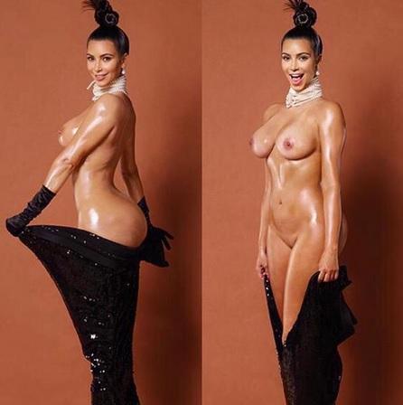 Kim Kardashian pelada na polemica revista americana Paper 7