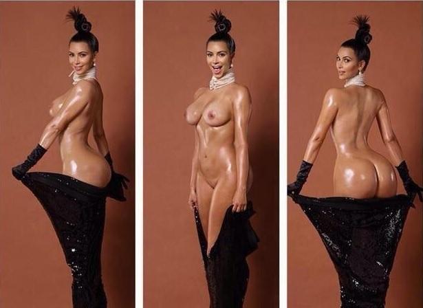 Kim Kardashian pelada na polemica revista americana Paper 8