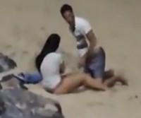 Casal é flagrado fazendo sexo na praia de Ponta Negra-RN