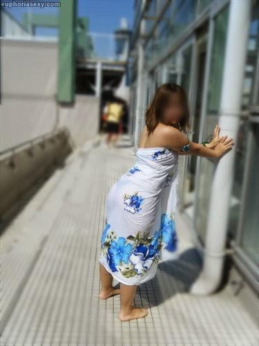 Caiu na net japonesa safada se exibindo no parque aquático em Wakayama Japao 14