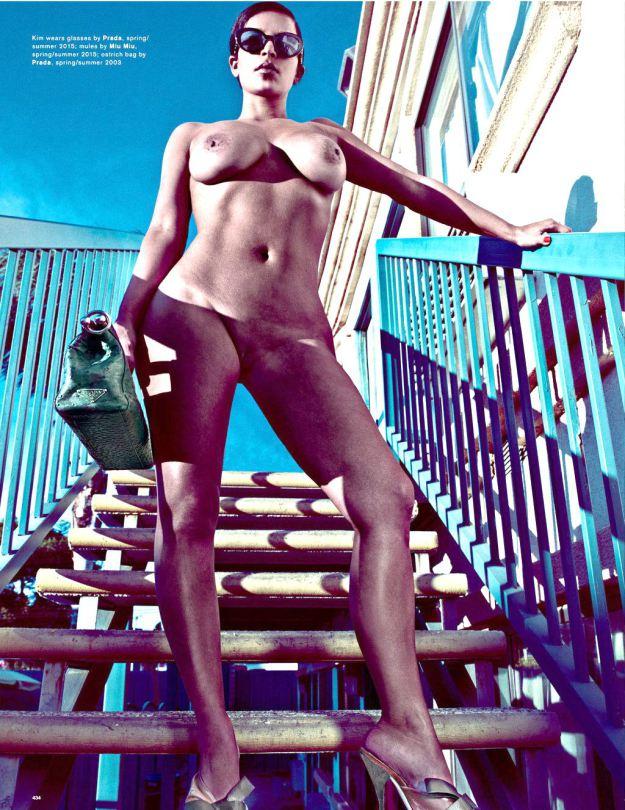 Fotos da Kim Kardashian nua na Love Magazine 17