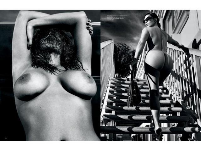 Fotos da Kim Kardashian nua na Love Magazine 2