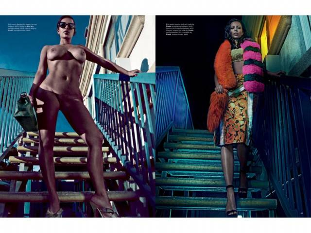 Fotos da Kim Kardashian nua na Love Magazine 3
