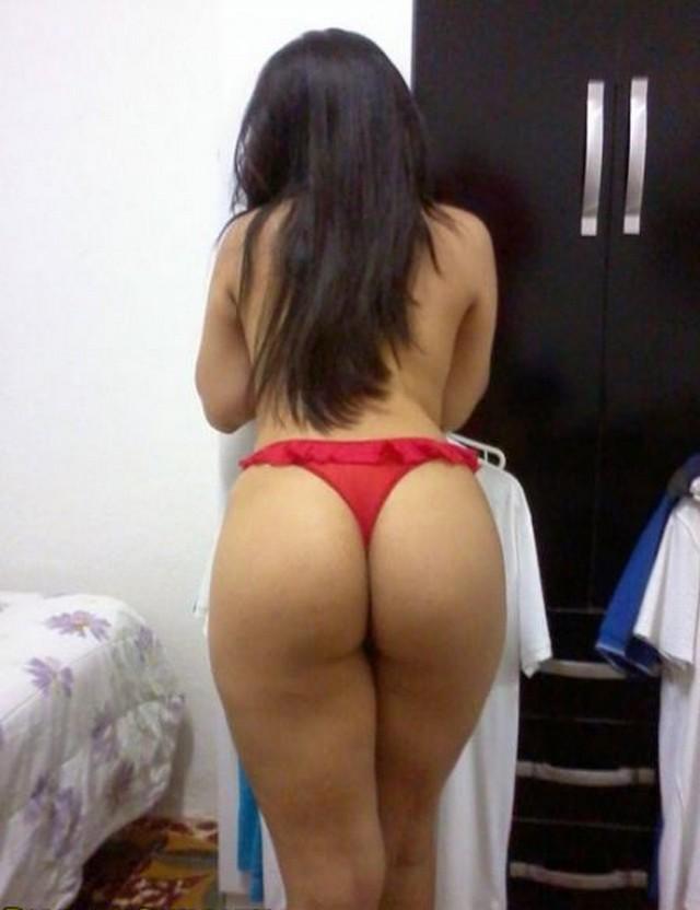 Morena rabuda da calcinha vermelha caiu na net 8