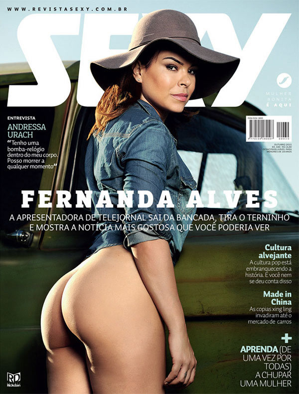 Jornalista Fernanda Alves nua pelada na Sexy de outubro 2015 1