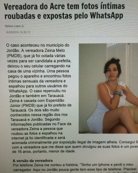 Fotos íntimas da vereadora Zeina Melo caiu no WhatsApp 1