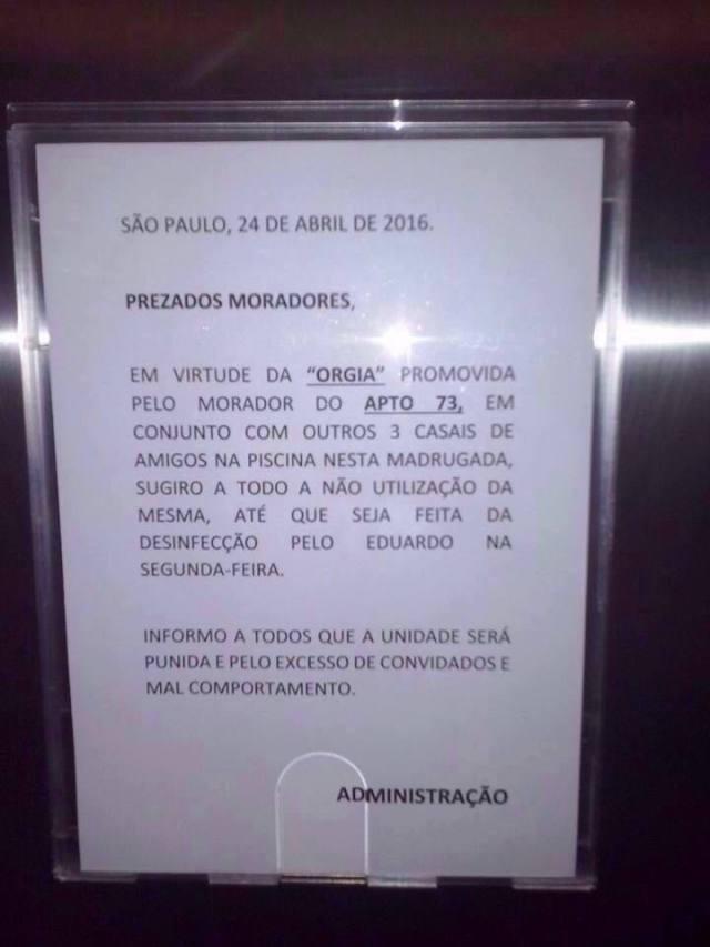 Piscina de Condomínio da Zona Sul de São Paulo é palco de Orgia vazou na net 1