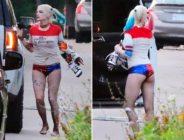 Atriz Margot Robbie a Arlequina de Esquadrão Suicida pelada em cenas de sexo 1