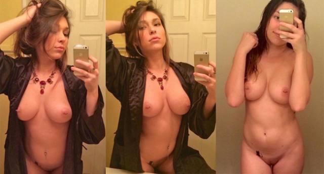 Gatinha peituda vazou fazendo selfies peladinha 1