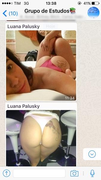 Kaliane Fogaça e Luana Palusky gostosa mandando nudes no grupo da faculdade 13
