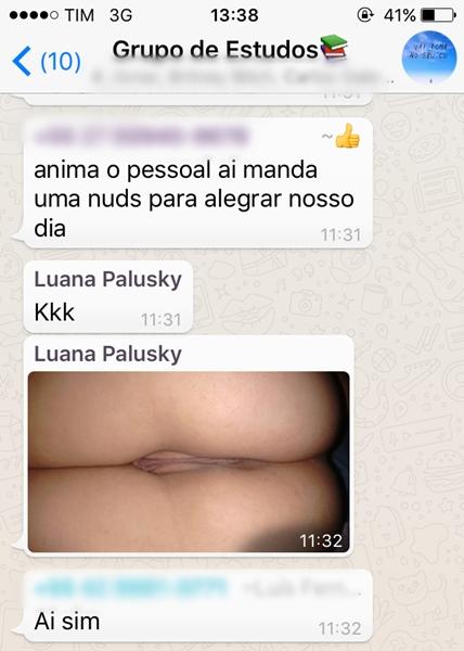 Kaliane Fogaça e Luana Palusky gostosa mandando nudes no grupo da faculdade 14