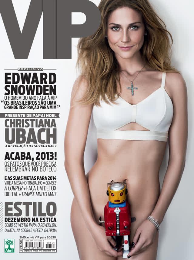 Atriz Christiana Ubach A garota da moto pelada na revista vip 2