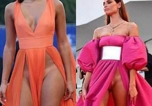 Modelos com roupas ousadas sem calcinha no Festival de Veneza 2016