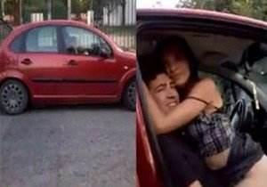 Cara pegou casal em flagrante transando no carro!