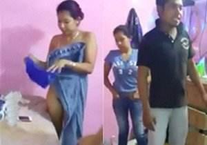Mulher pega marido no flagra em casa com outra!