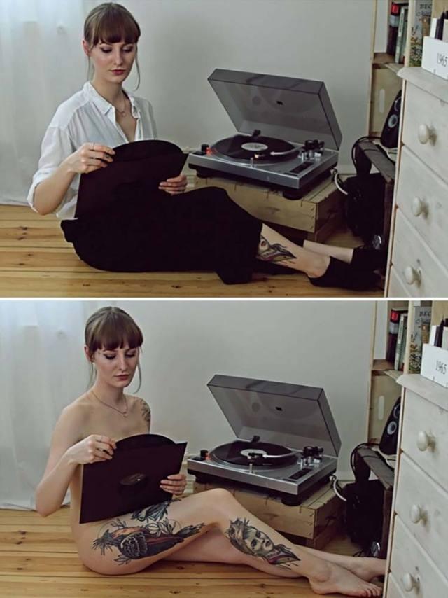 Fotográfica mostra pessoas nuas fazendo tarefas do dia a dia 9